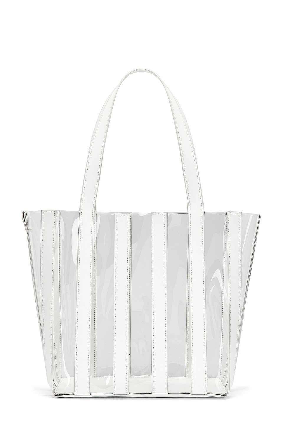 Loeffler Randall Marlena Pieced Tote in White & Clear