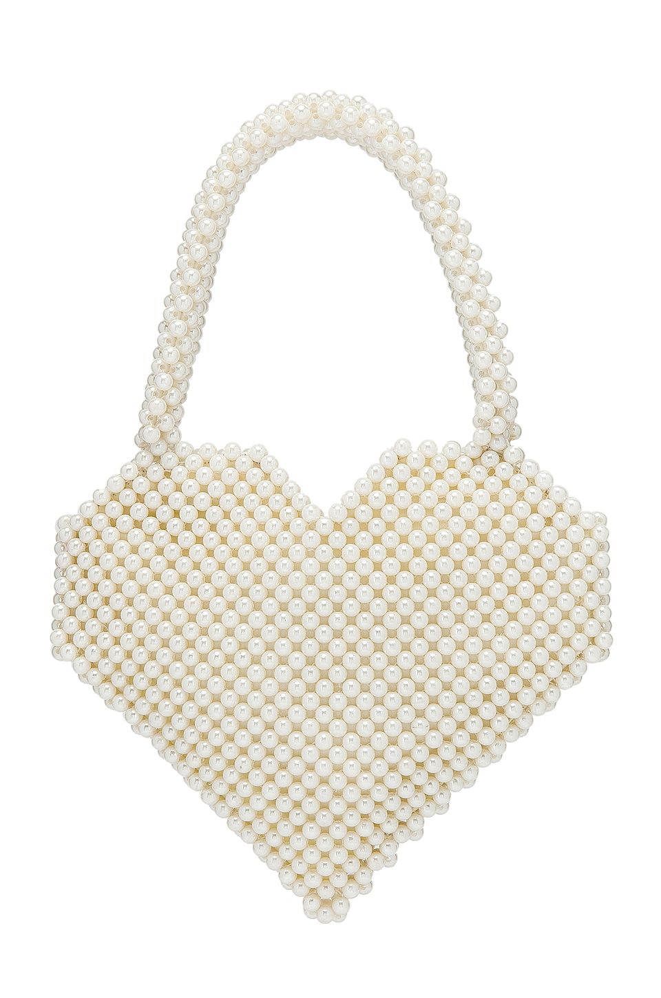 Loeffler Randall Maria Beaded Heart Tote in Pearl