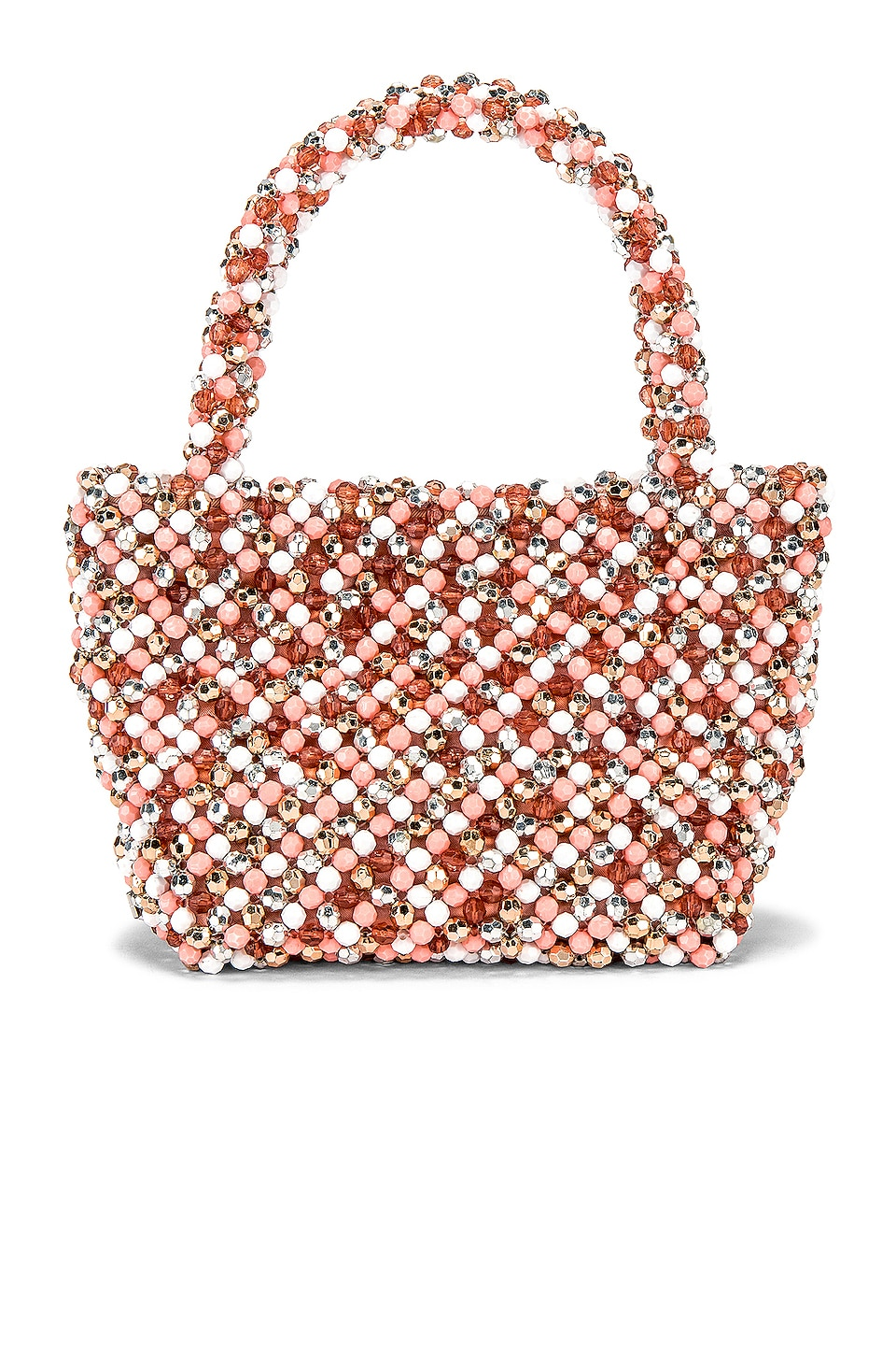 Loeffler Randall Mina Beaded Tote in Blush & Multi