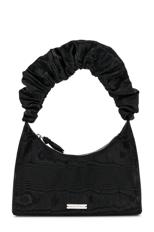 Loeffler Randall Aurora Scrunchie Strap Shoulder Bag in Black