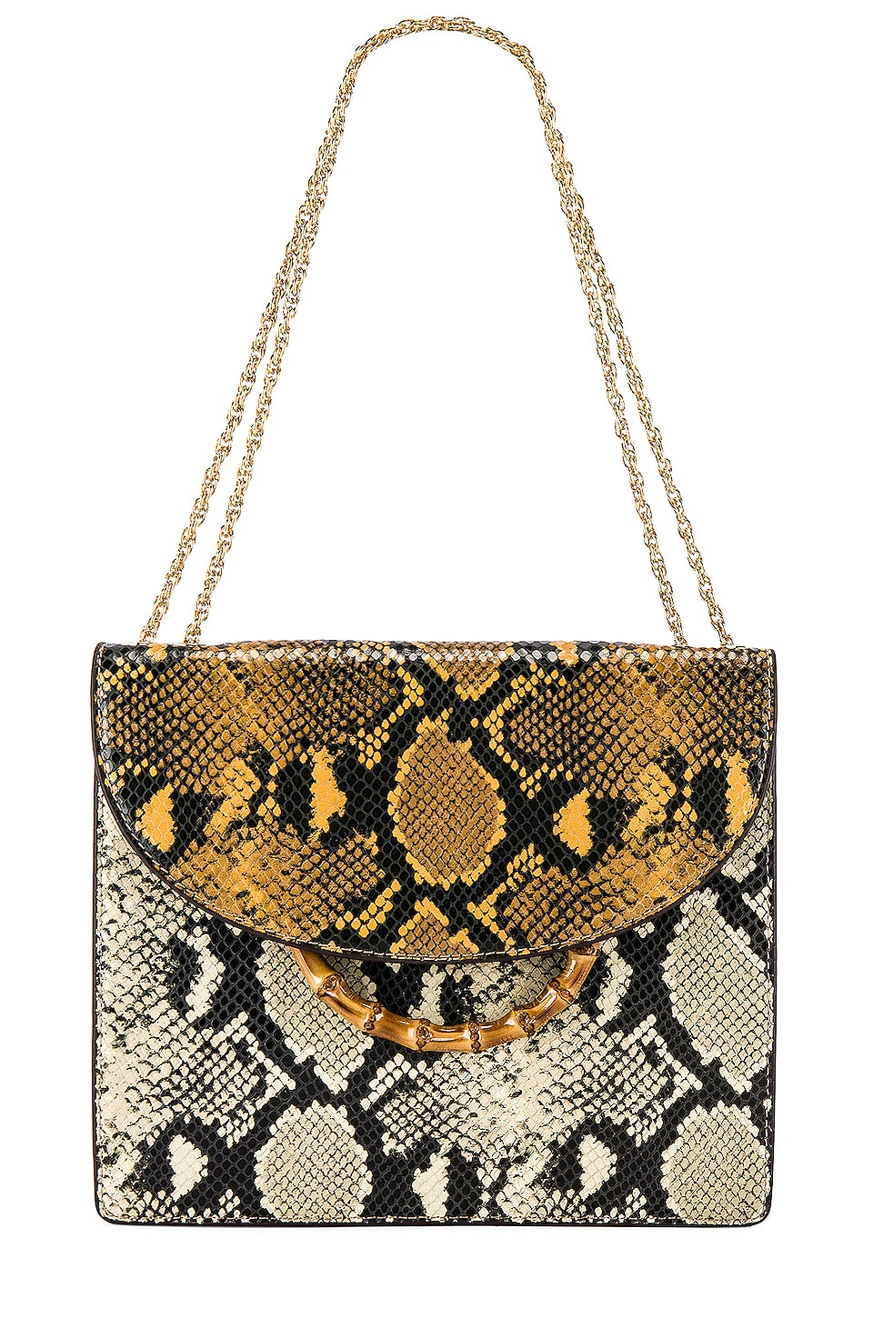 Loeffler Randall Marla Square Chain Bag in Amber & Sand