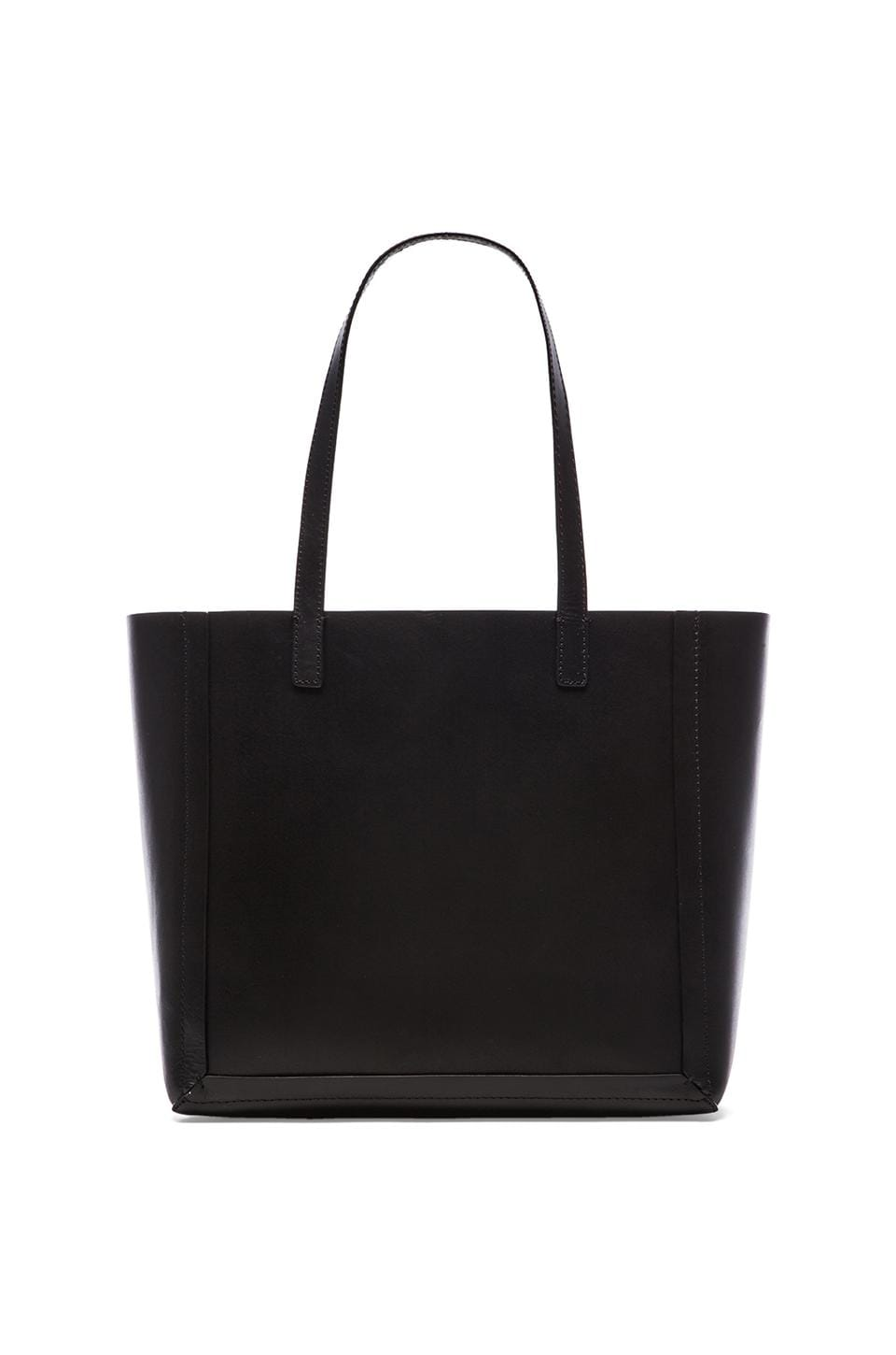 Loeffler Randall Open Tote in Black & White black