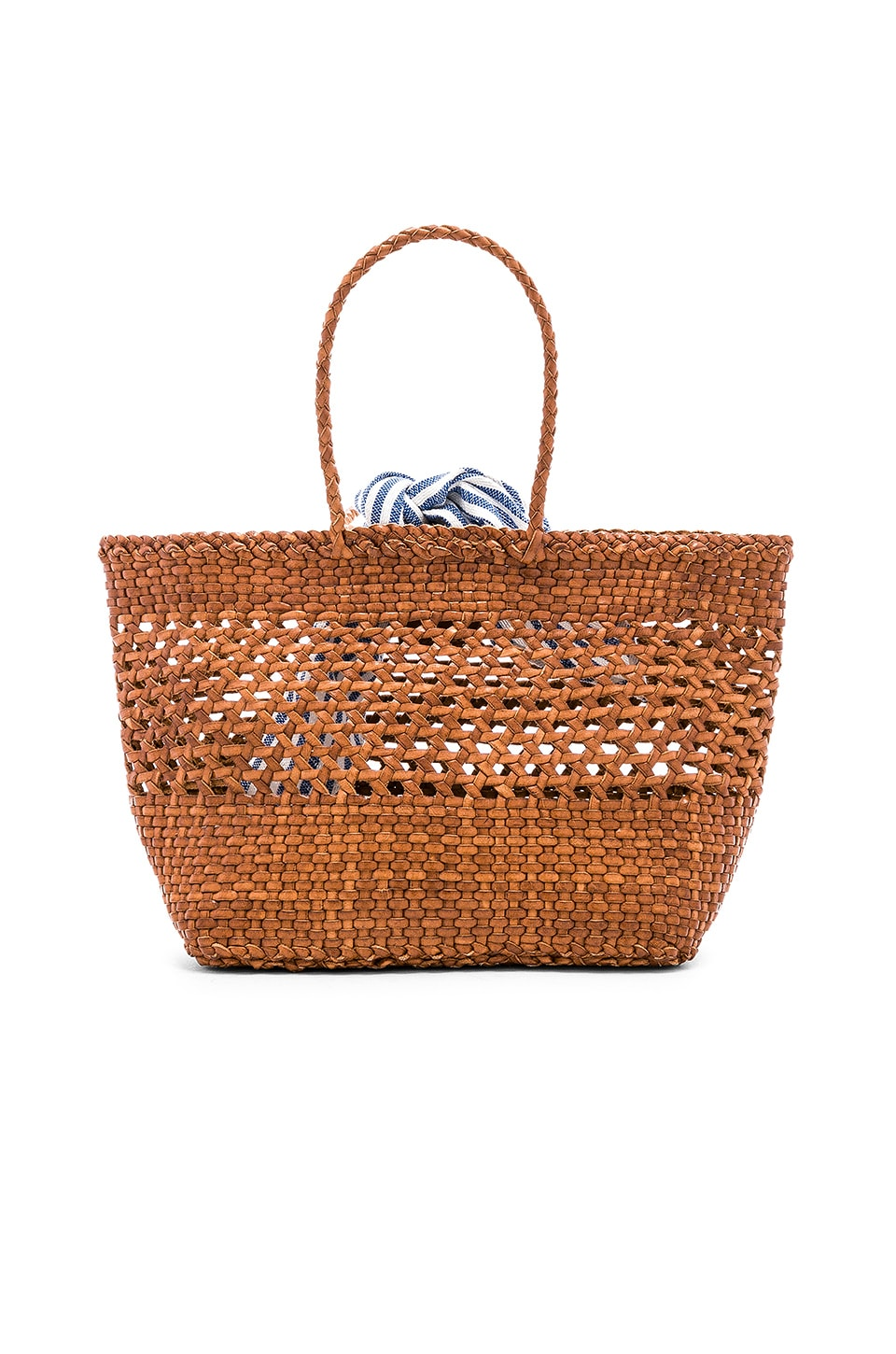 Edith Woven Leather Mini Tote in Brown Loeffler Randall UUezLSue