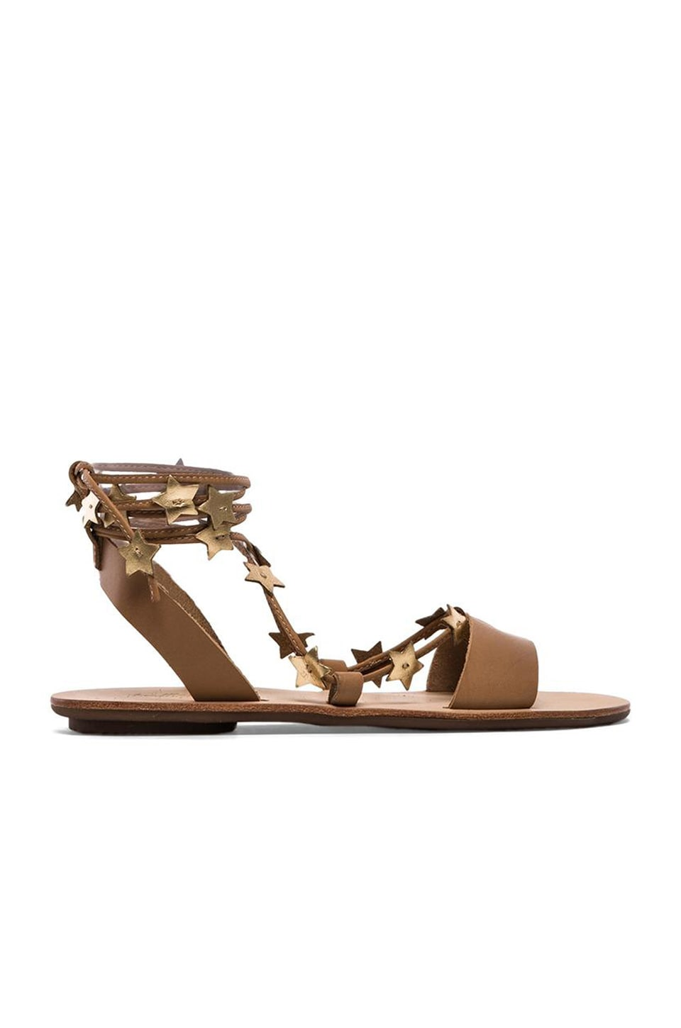 Loeffler Randall Starla Sandal in Wheat & Gold