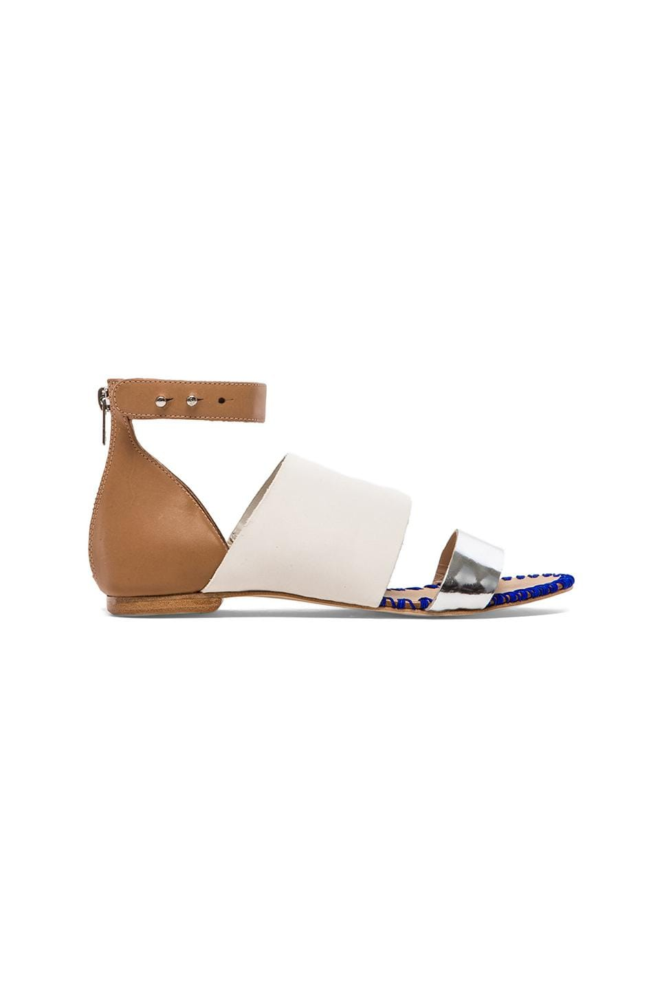 Loeffler Randall Minna Sandal in White & Buff