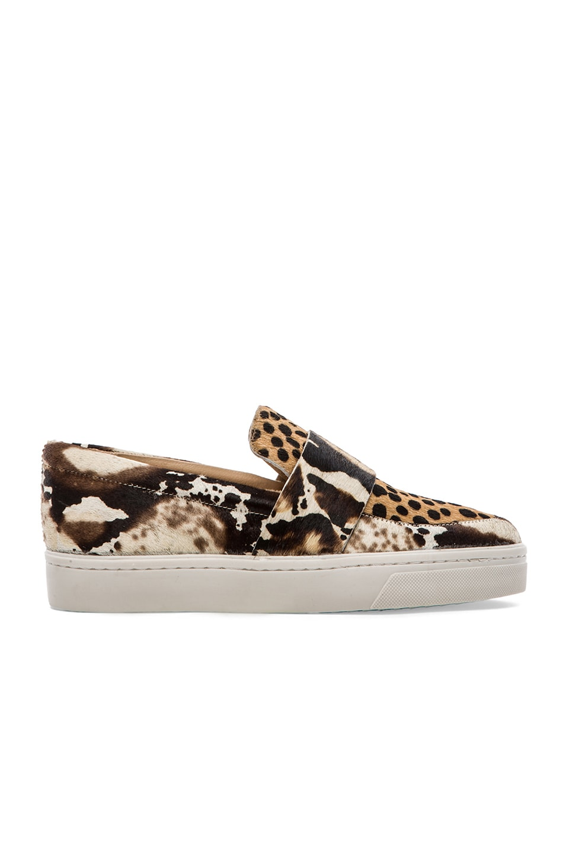 Loeffler Randall Calf Hair Irini Sneaker in Print & Cheetah