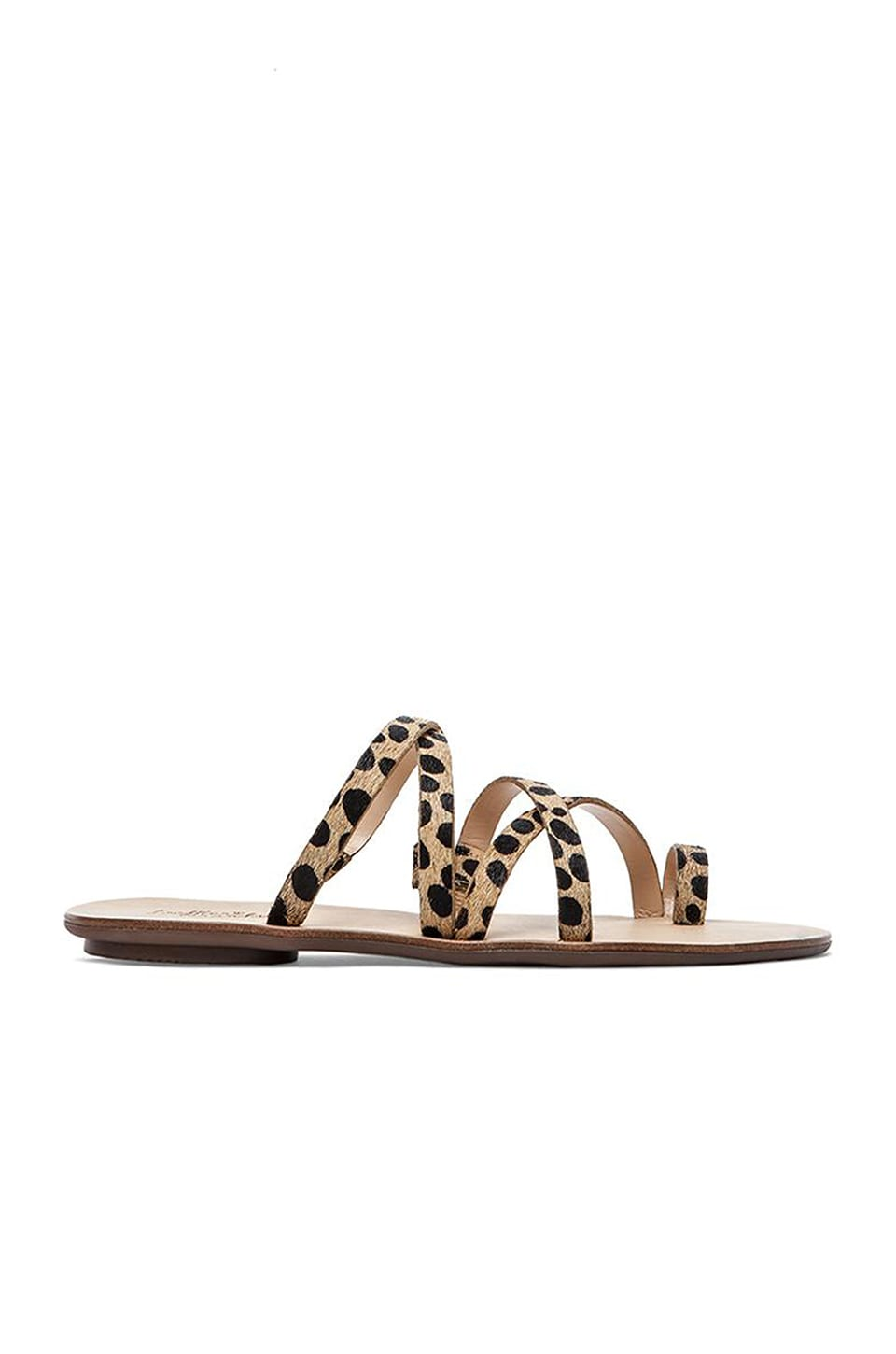 Loeffler Randall Sarie Calf Hair Sandal in Cheetah