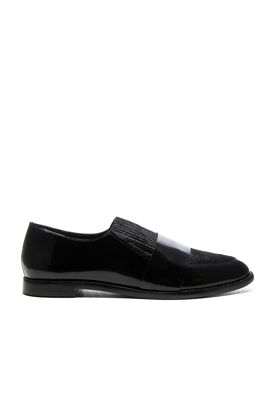 Loeffler Randall Rosa Calf Hair Loafer in Black