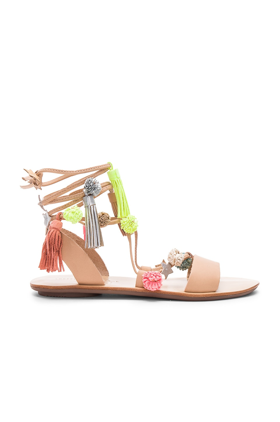 Loeffler Randall Suze Sandal in Wheat & Fluo Multi