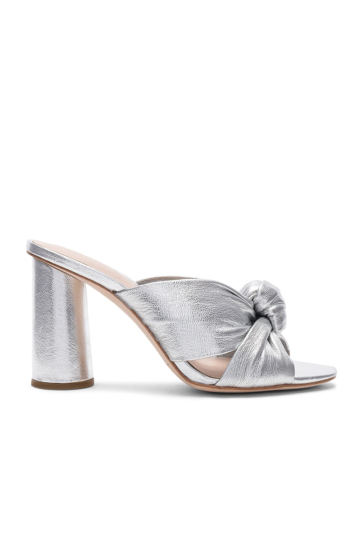 Loeffler Randall Coco Metallic Heel in Silver