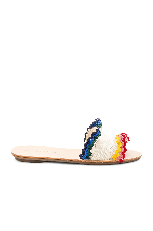 Loeffler Randall Birdie Ruffle Sandal in Natural & Rainbow
