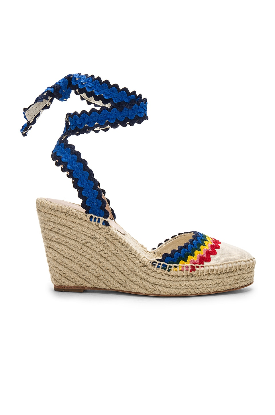7ba849da001 Loeffler Randall Ginny Wedge in Natural & Rainbow | REVOLVE