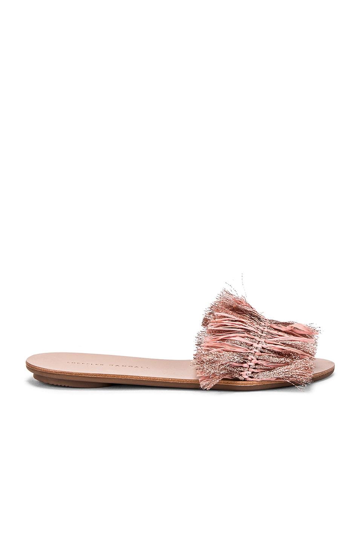Loeffler Randall Raffia Plank Slide in Ballet & Rose Gold