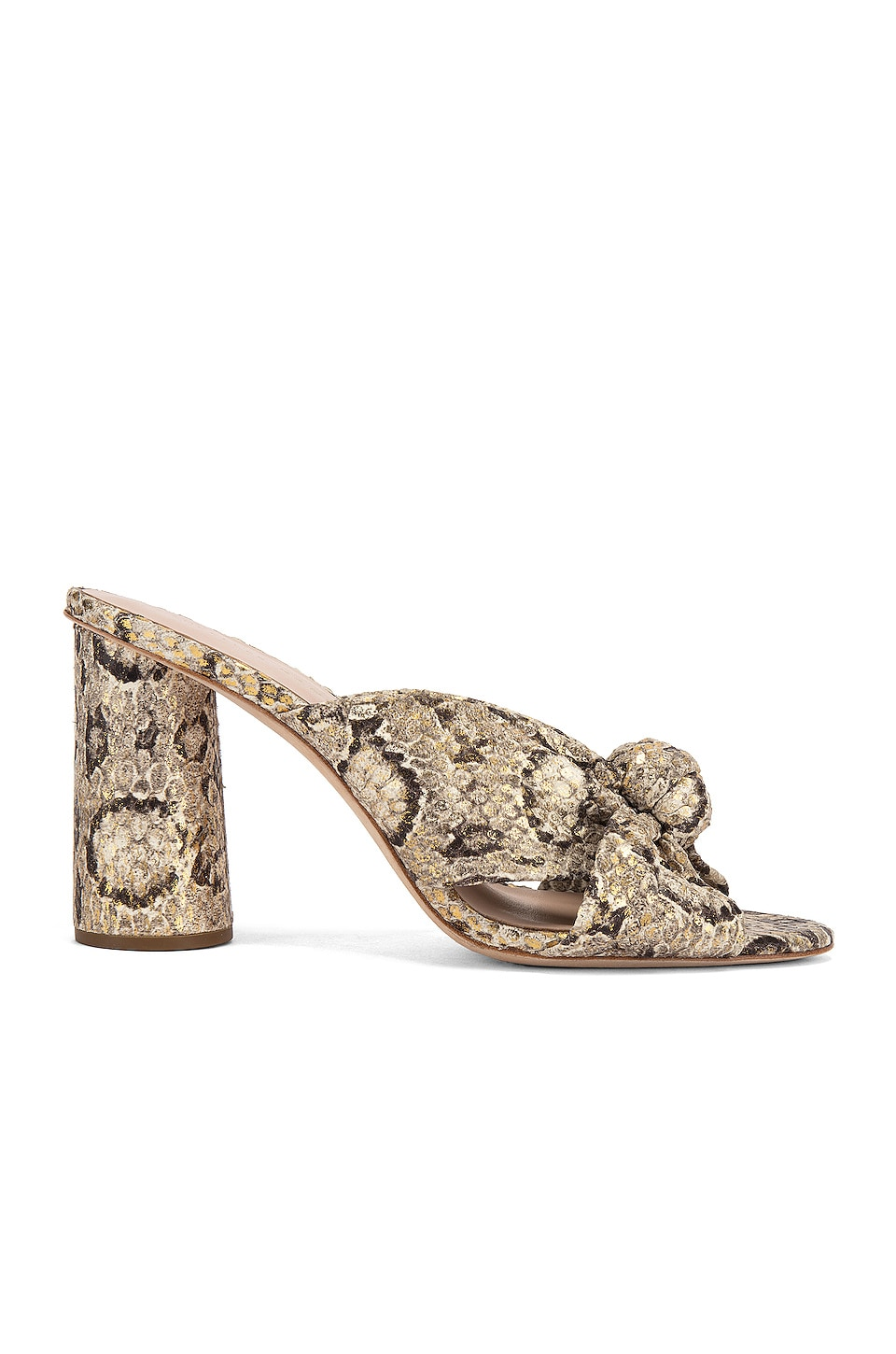 Loeffler Randall Coco High Heel Knot Mule in Champagne & Graphite