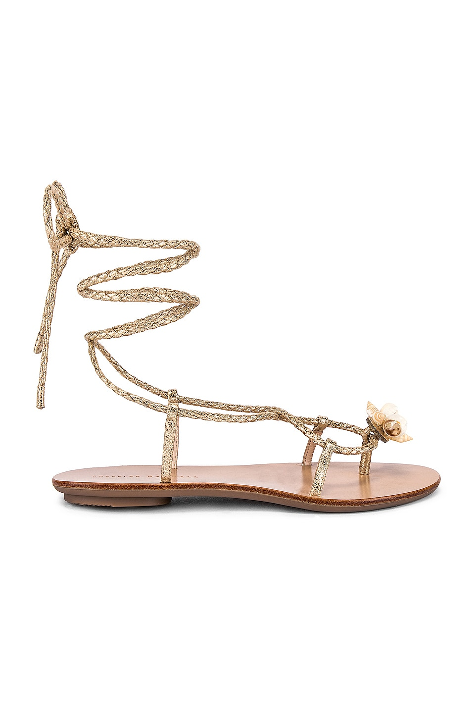 Loeffler Randall Wrap Sandal With Shells in Champagne