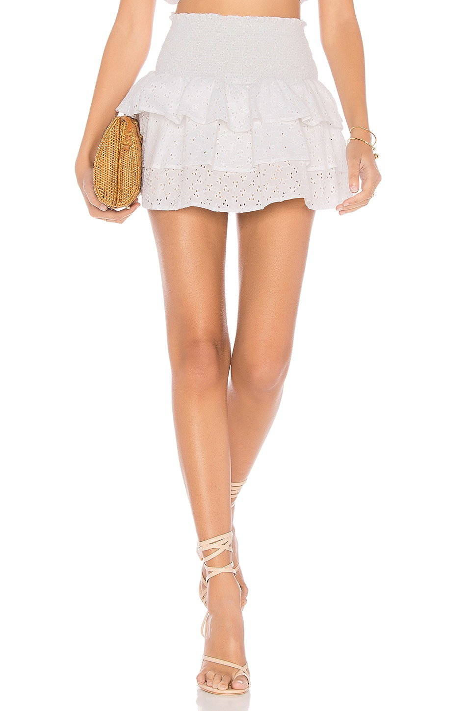 LOLLI SWIM X REVOLVE EYELET SKIRT
