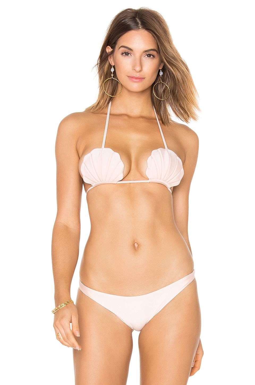 lolli swim Pixie Bikini Top in Pink Pearl