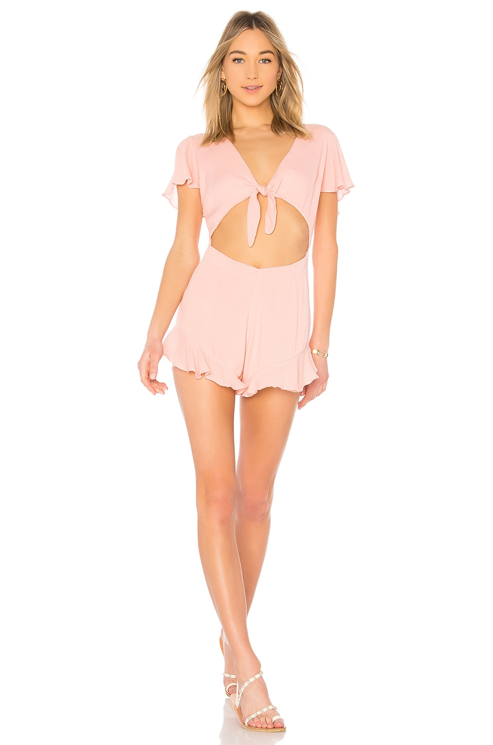 lolli swim Flirty Romper in Pinky Swear