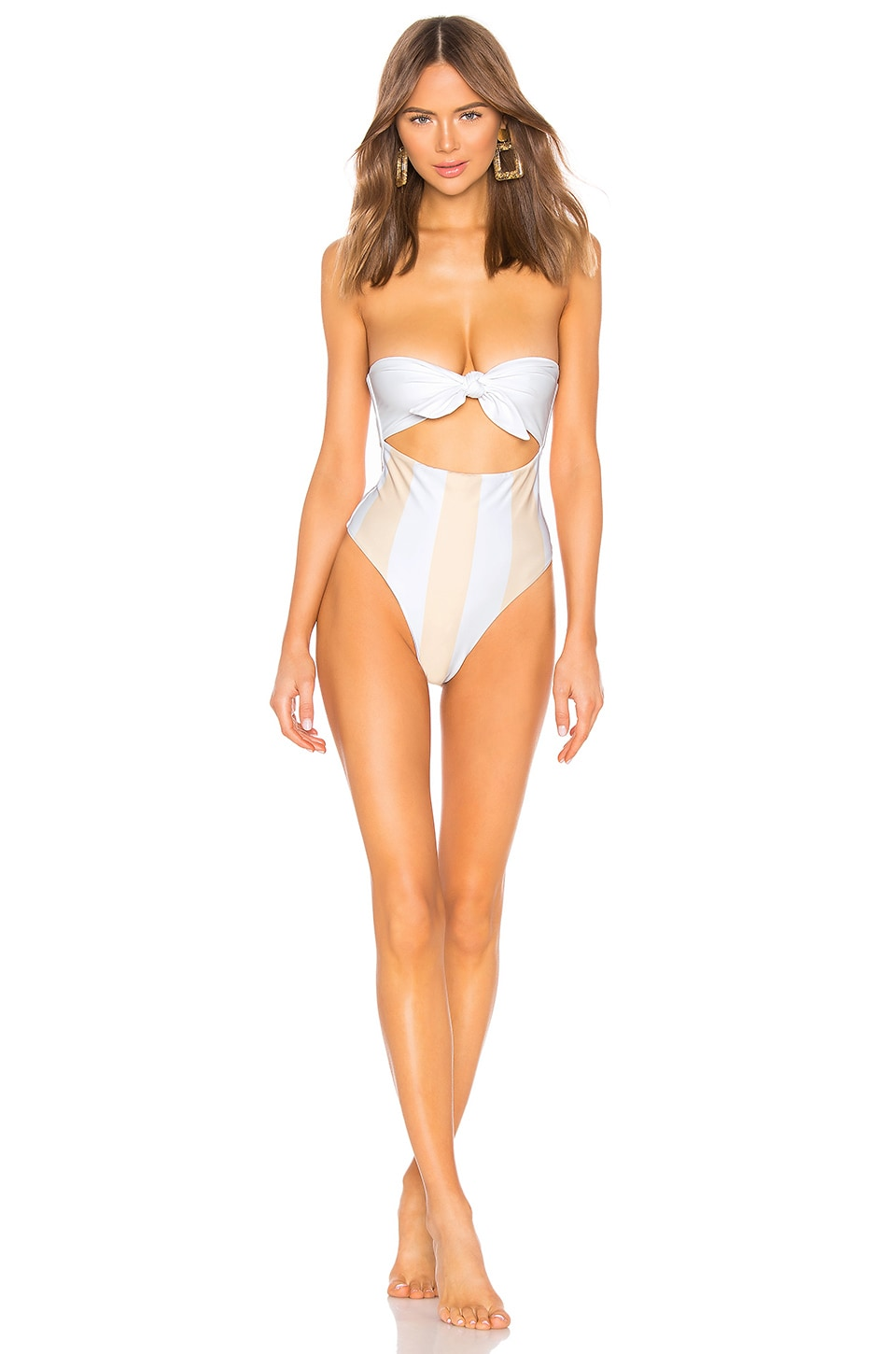 lolli swim Top Knot One Piece in Skinny Dip