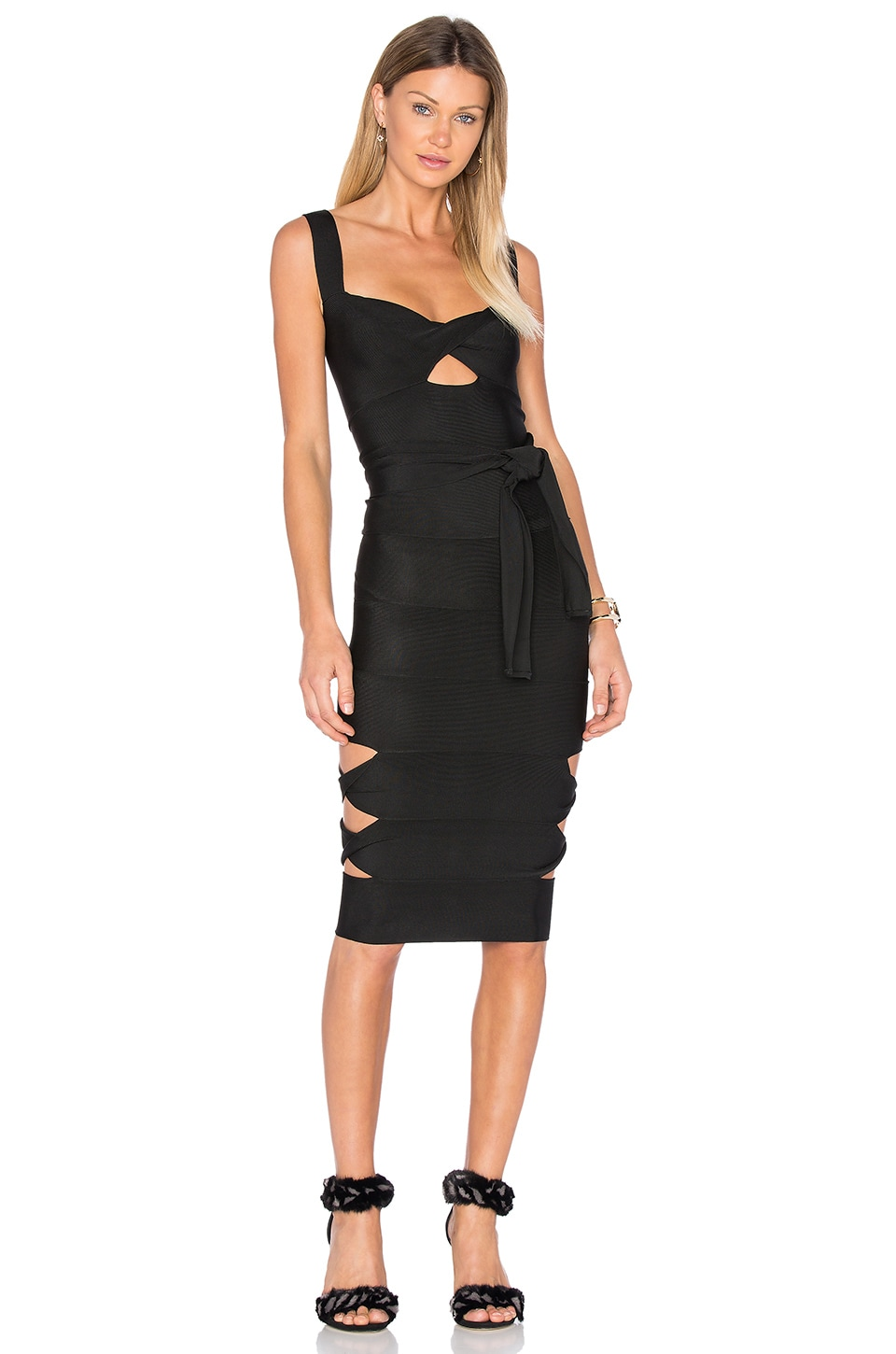 Sophia Cut Out Midi Dress by LOLITTA