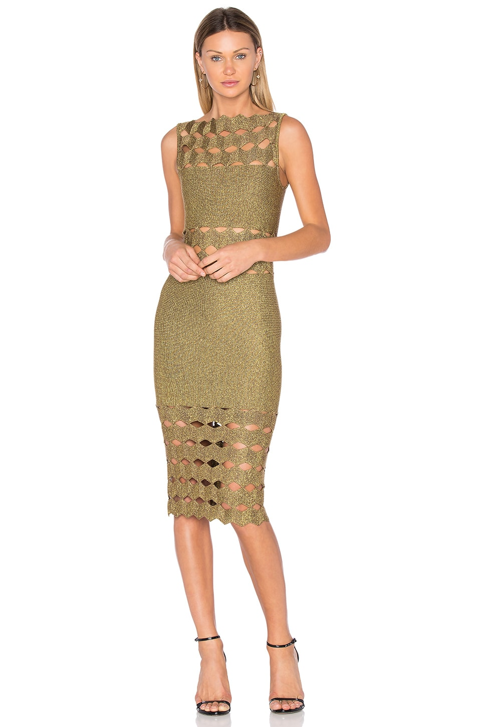 Helena Cut Out Midi Dress by LOLITTA