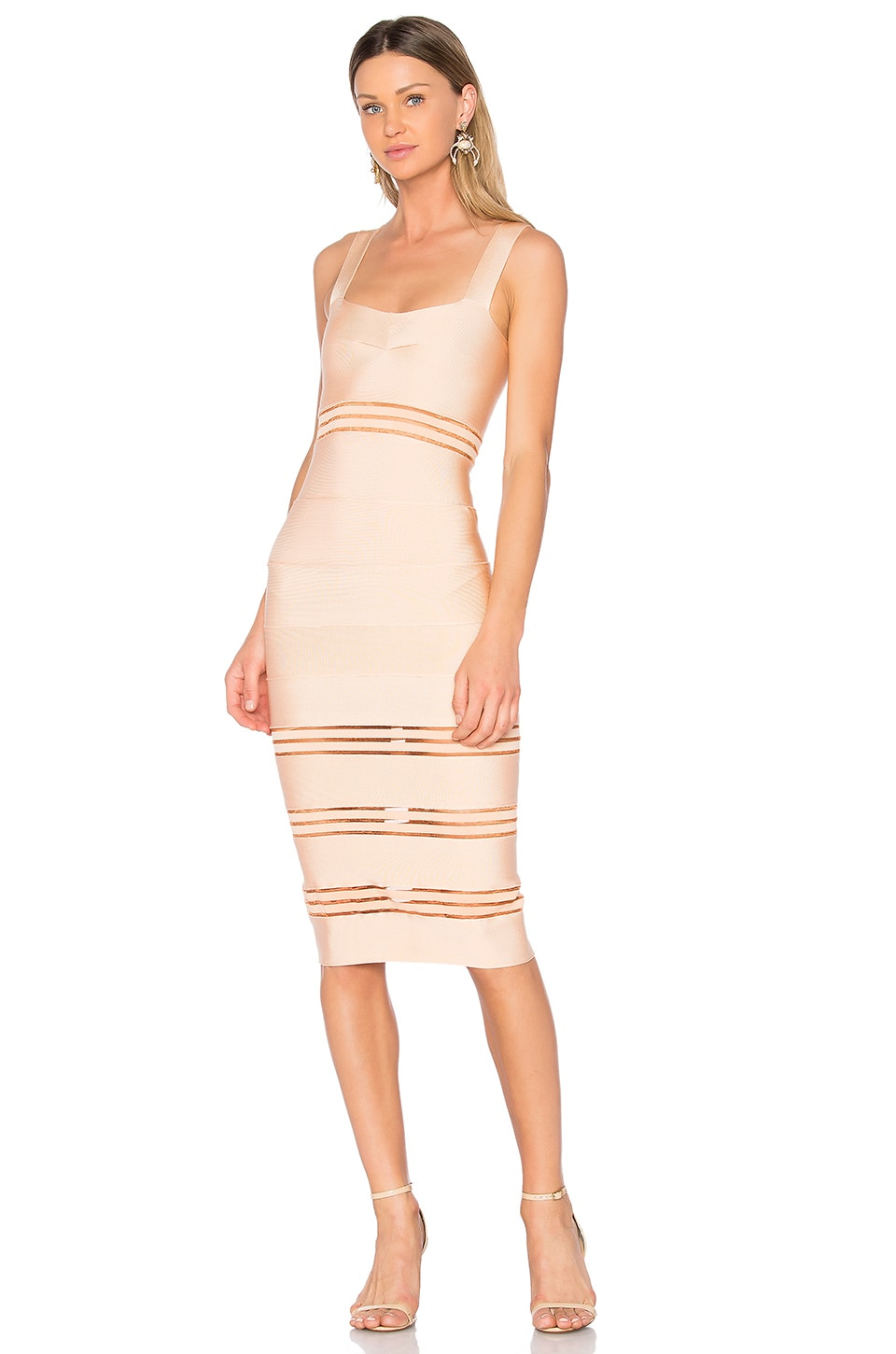 LOLITTA Sophie Midi Dress in Creme