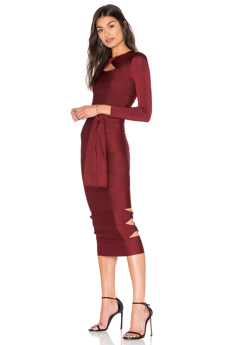 Sophia Long Sleeve Bodycon Dress by LOLITTA