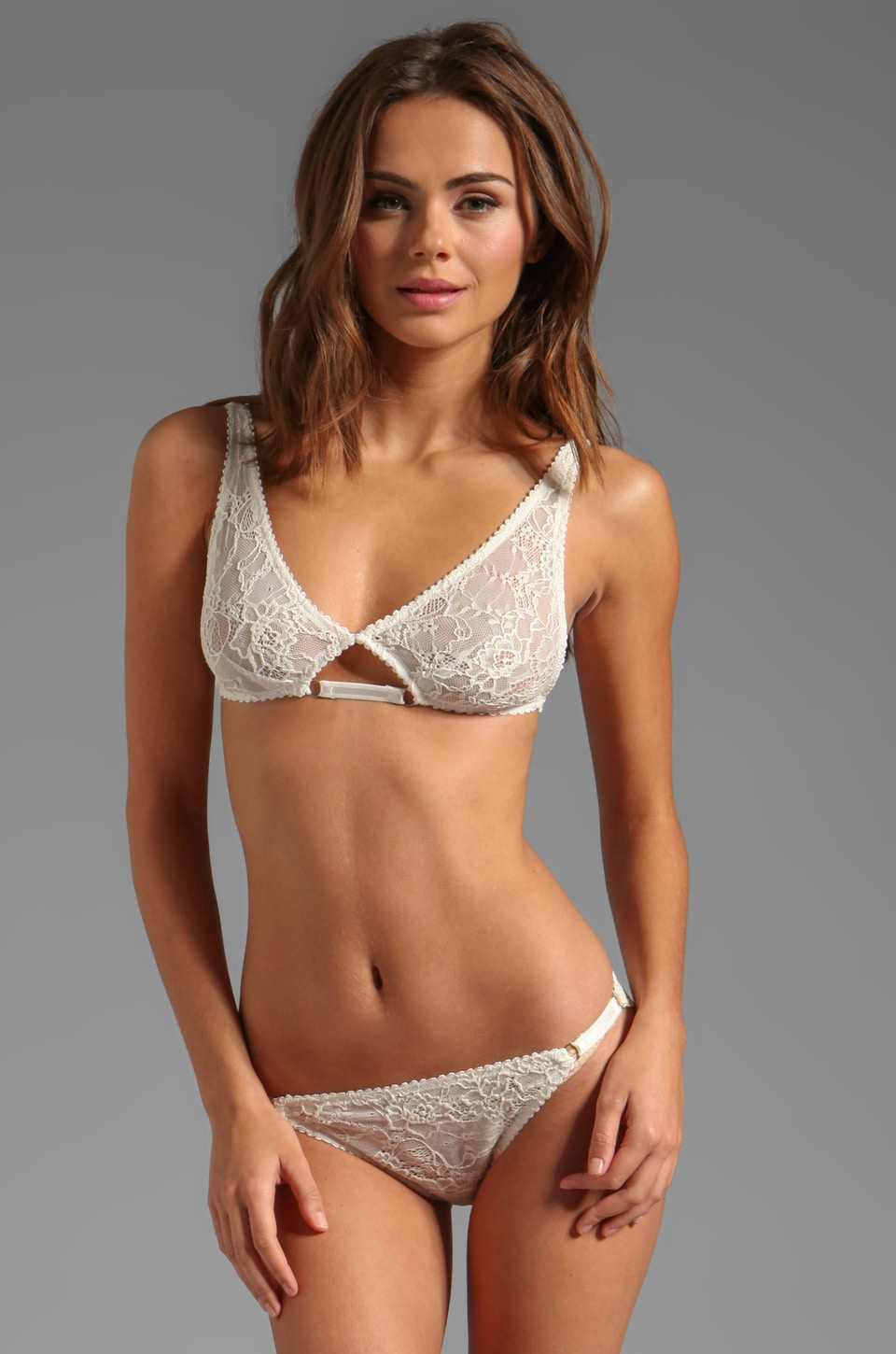 Lonely Hearts Lux Softcup Bra in Ivory