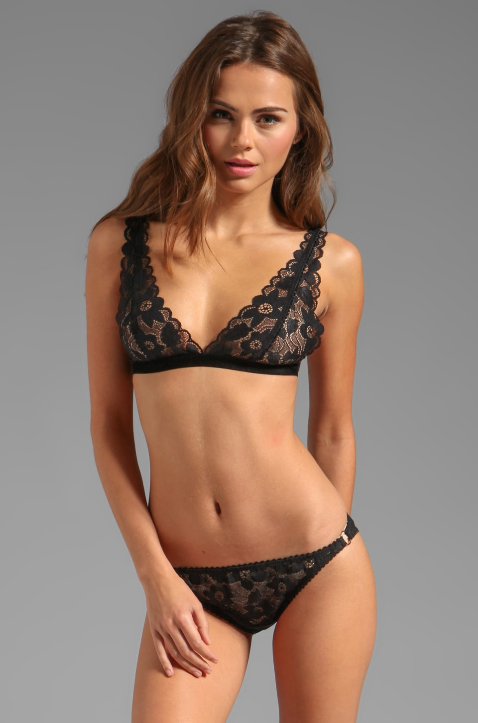 Lonely Hearts Cyd Softcup Bra in Black