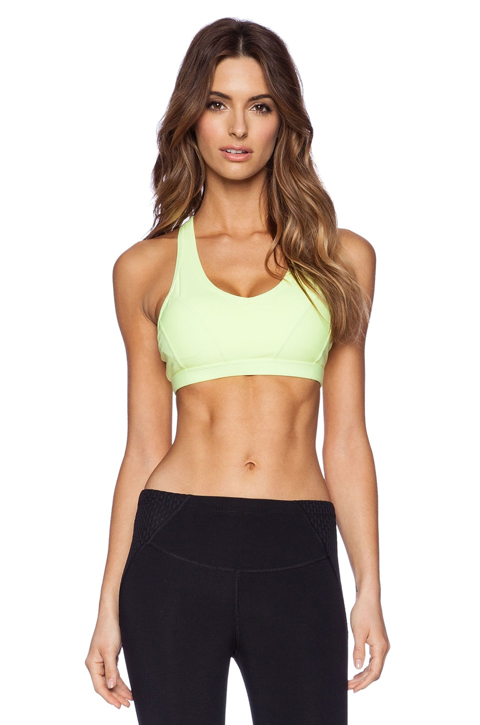 Lorna Jane Flawless Sports Bra in Neon Lemon Sorbet