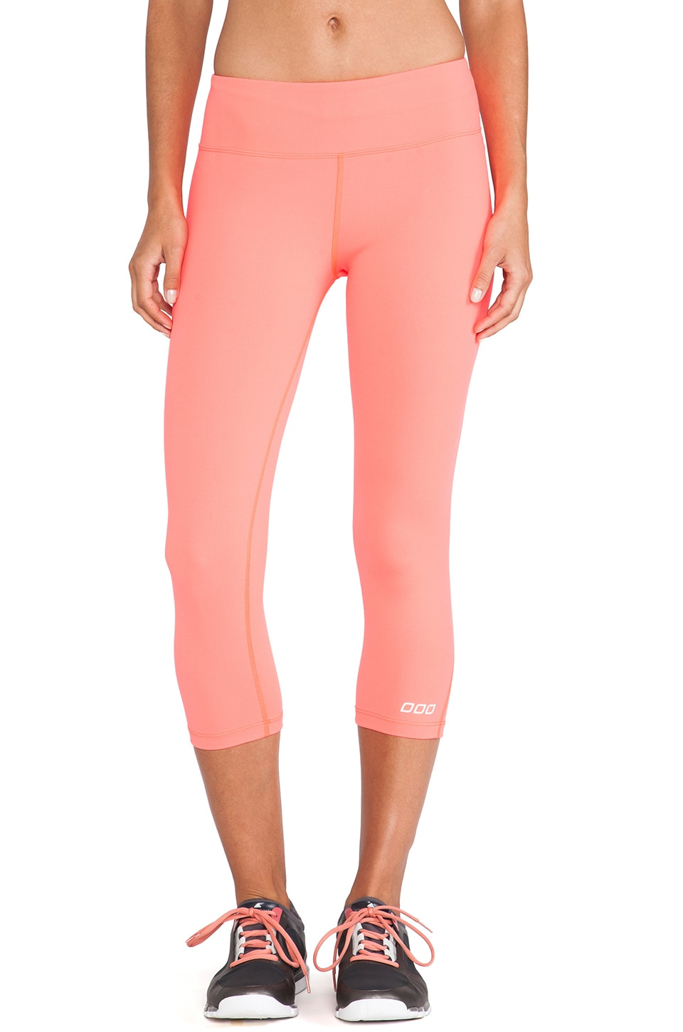 Lorna Jane Chromatic 7/8 Length Tight in Fluro Orange