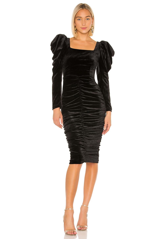 IORANE lORANE Velvet Midi Dress in Black