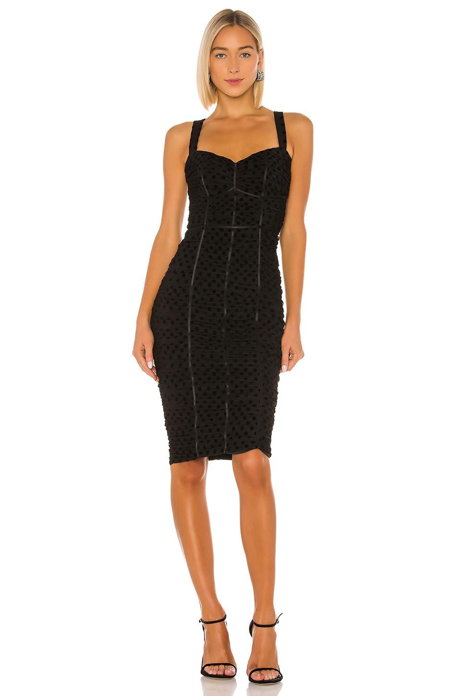 IORANE Tulle Midi Dress in Black