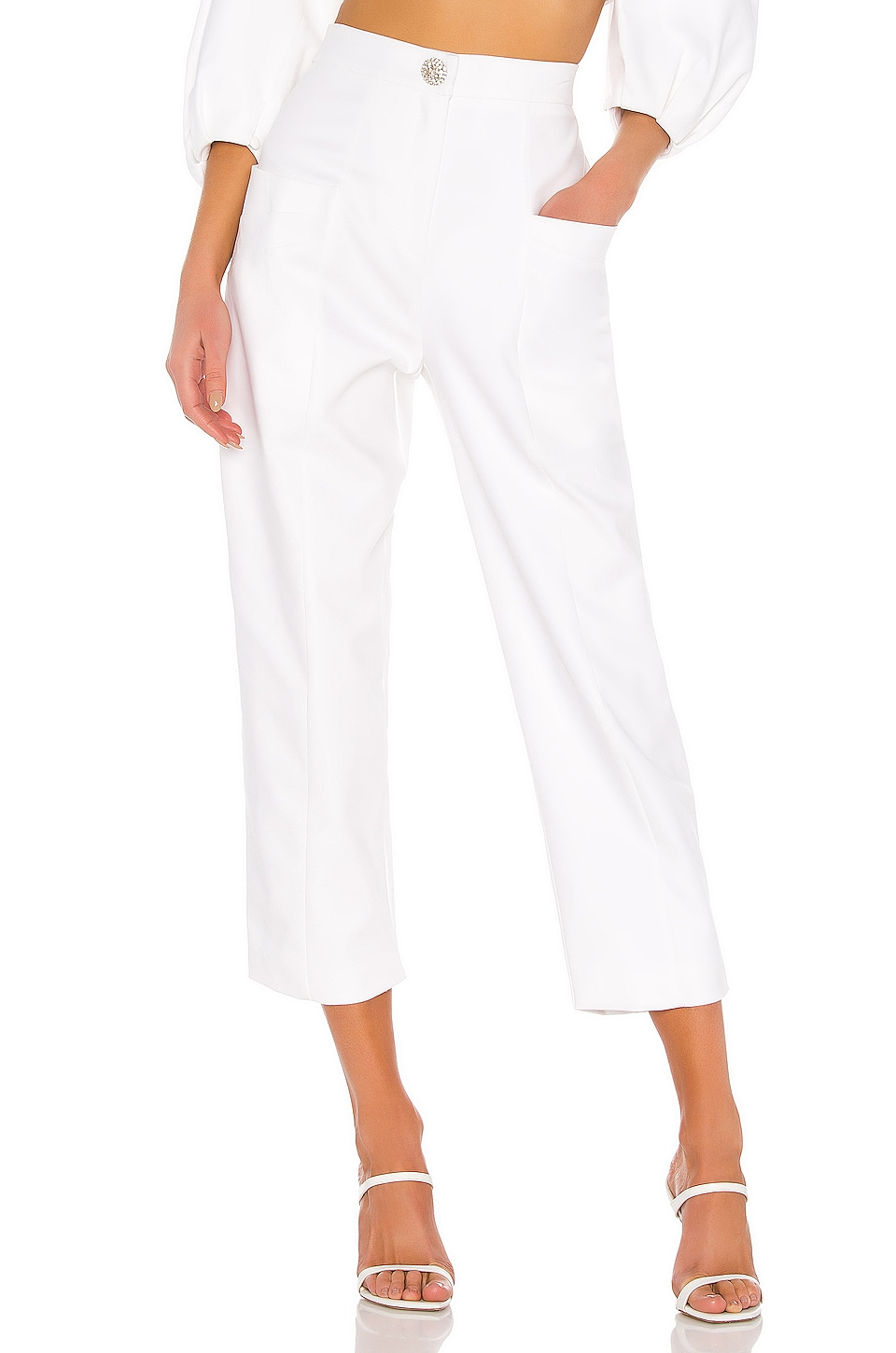 IORANE Supper Cotton Trousers in Off White