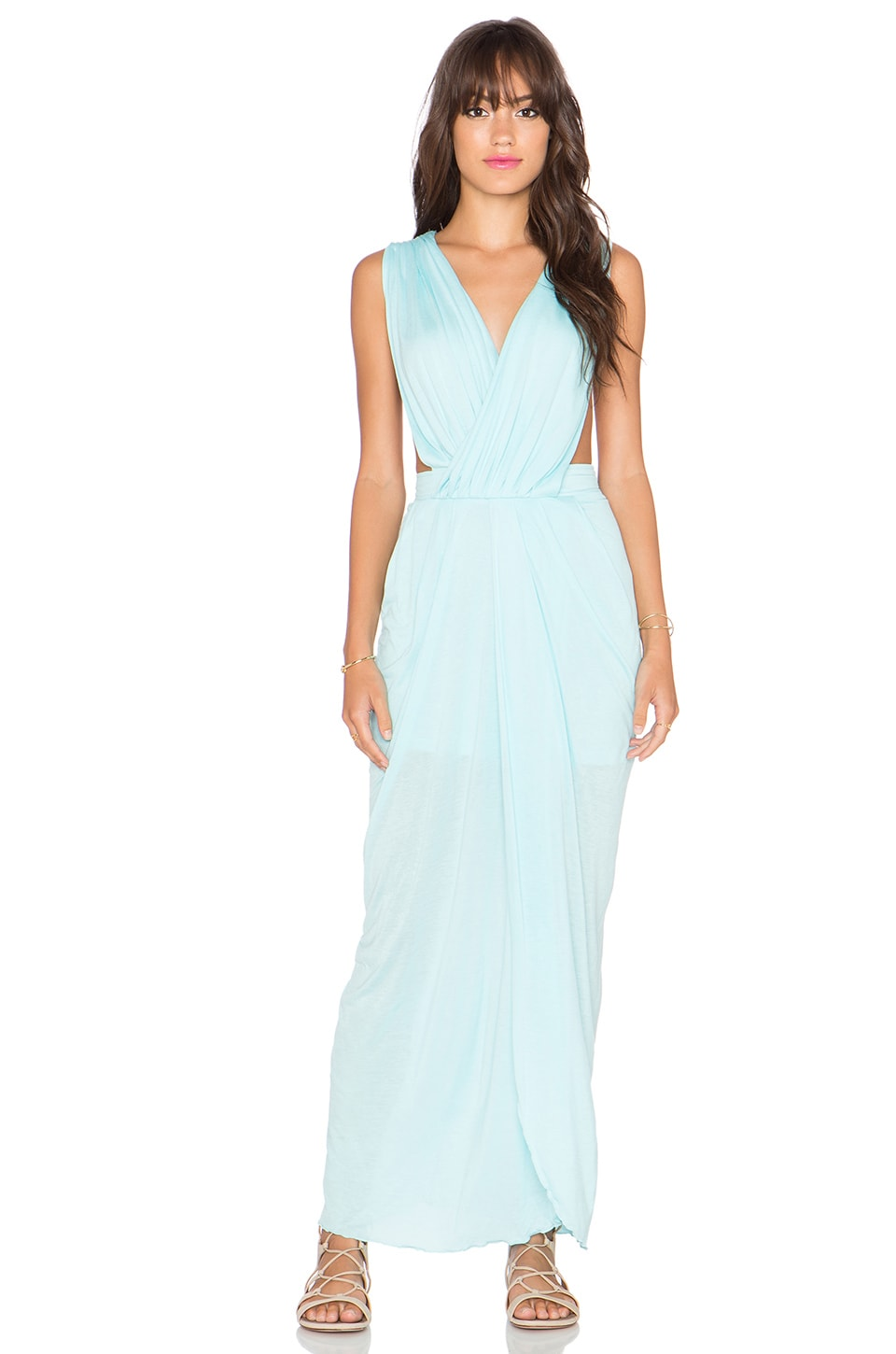 Le Salty Label Allure Grecian Maxi Dress in Mint