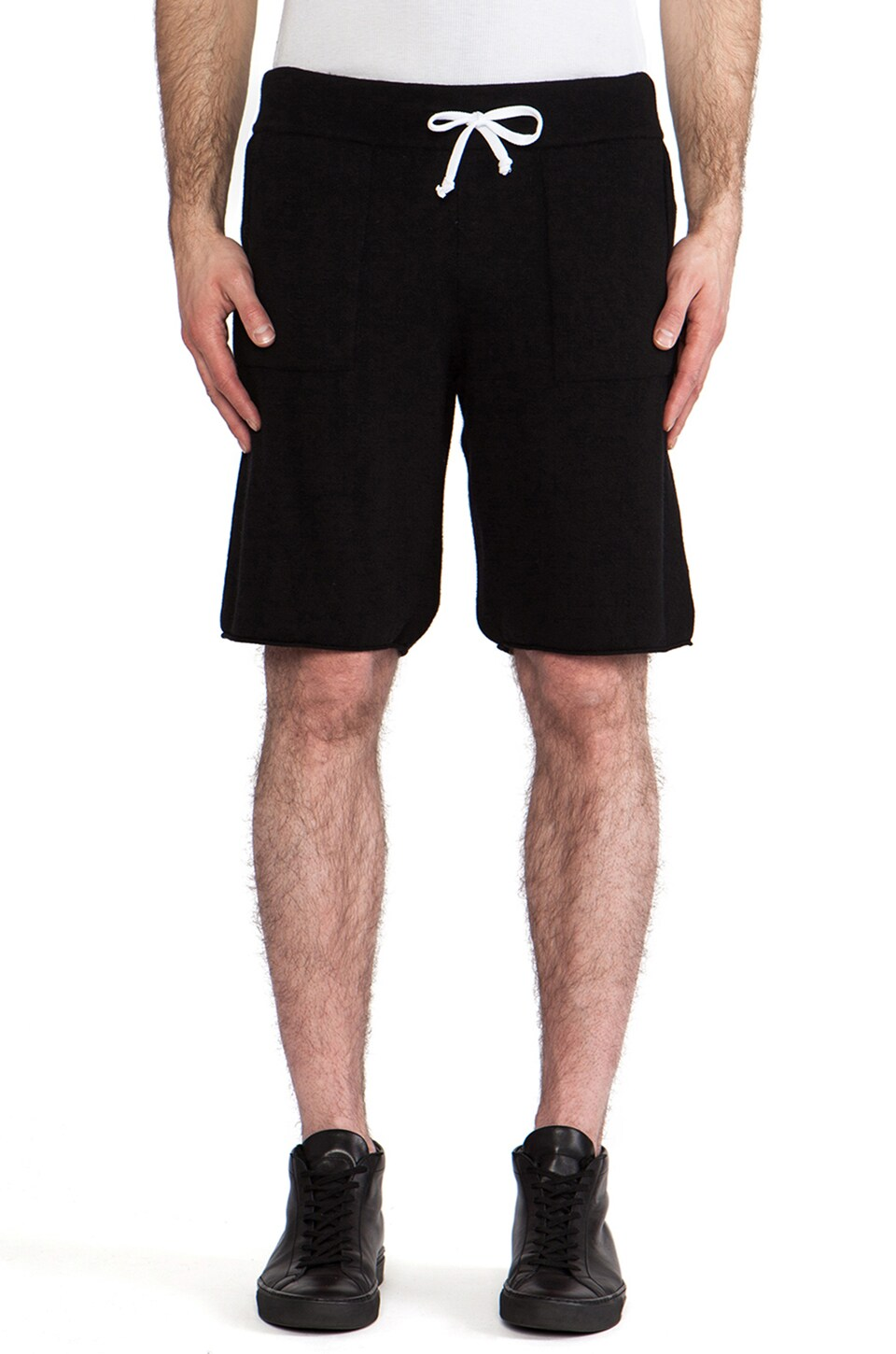 lot78 Cashmere Blend Sweatshort in Black