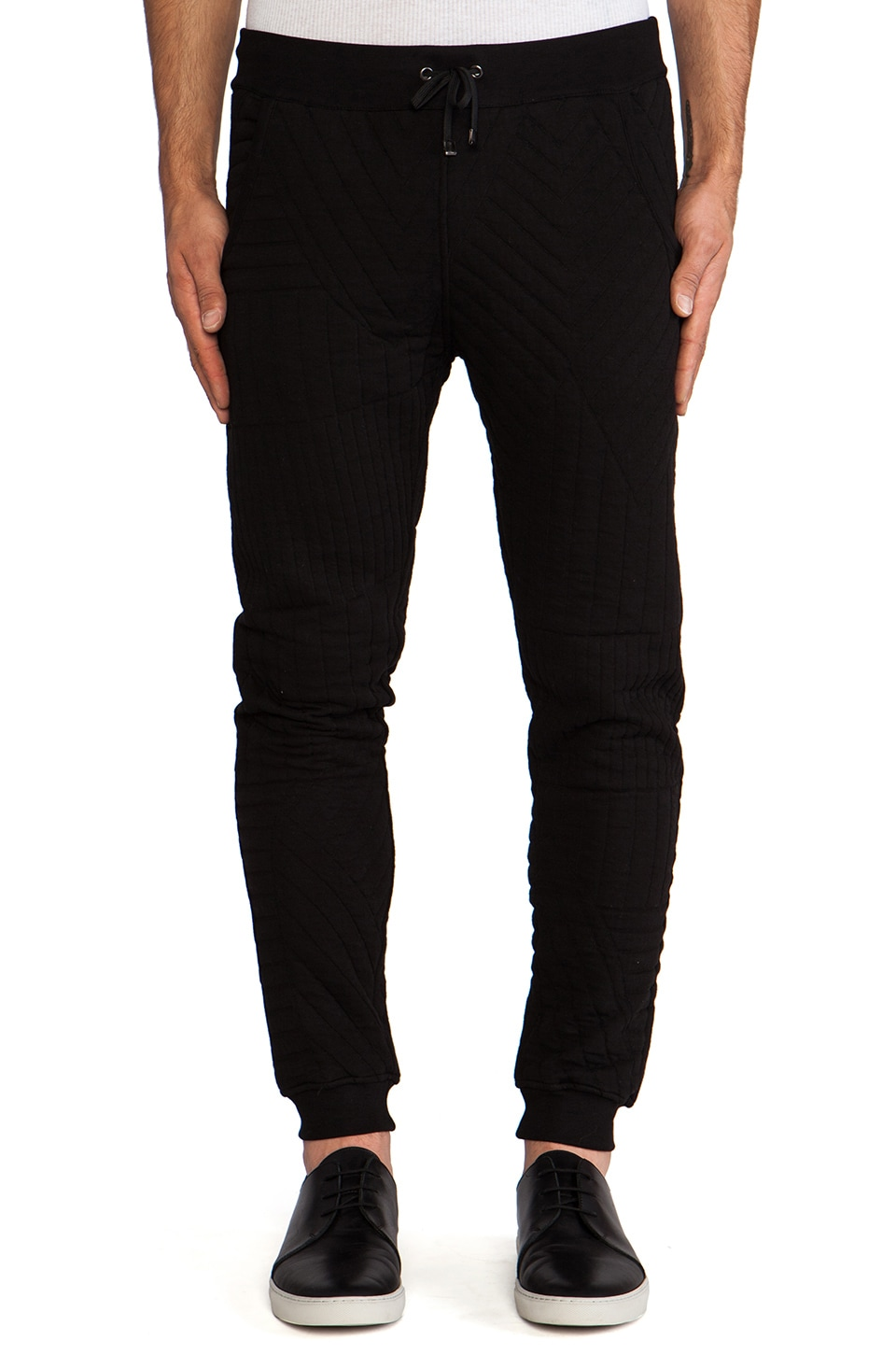 lot78 Quilted Sweatpant in Black