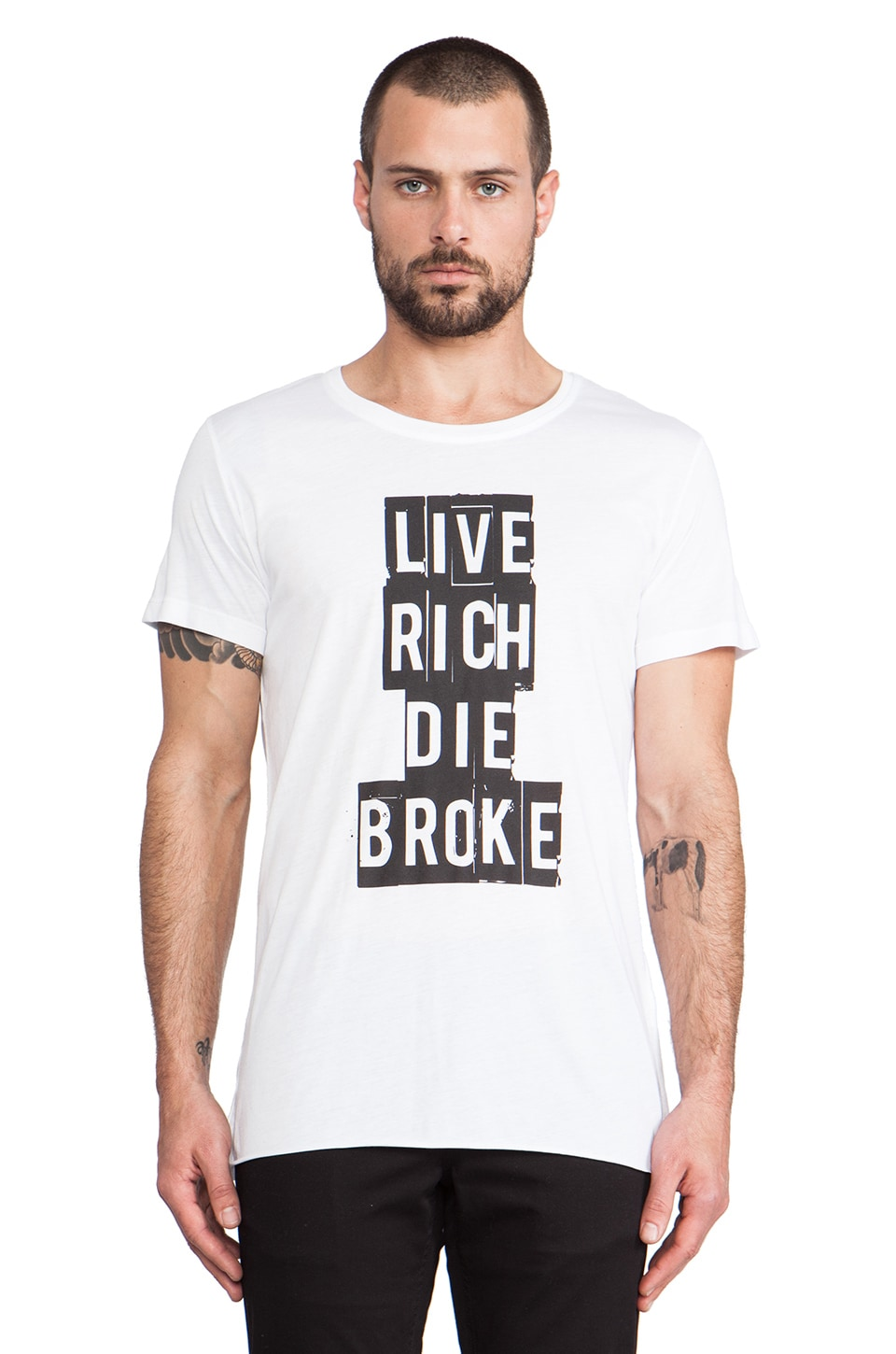 lot78 Live Rich T-Shirt in White
