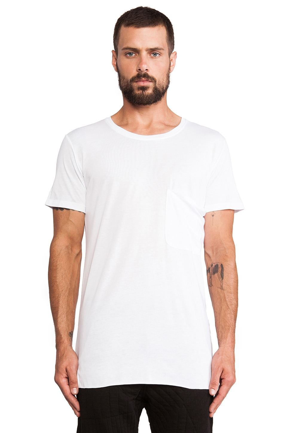 lot78 Modal Jersey Tee in White