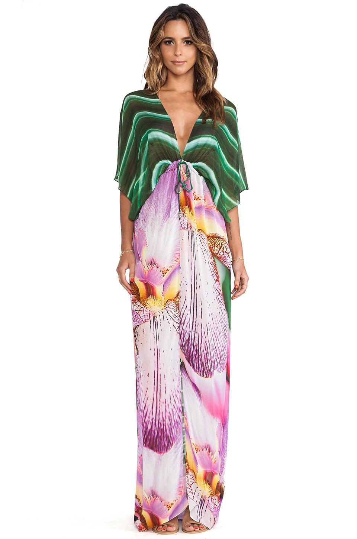 Lotta Stensson Maxi Kimono in Palm & Orchid
