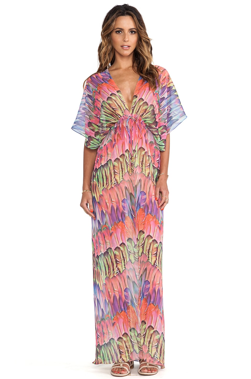 Lotta Stensson Maxi Kimono in Bright Parrot