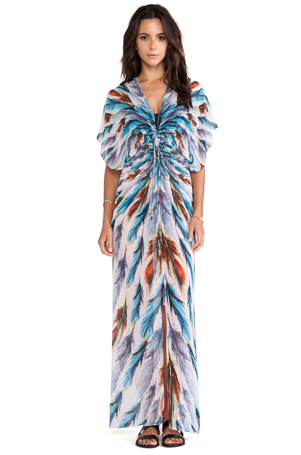 Lotta Stensson Maxi Kimono in Feather Fan