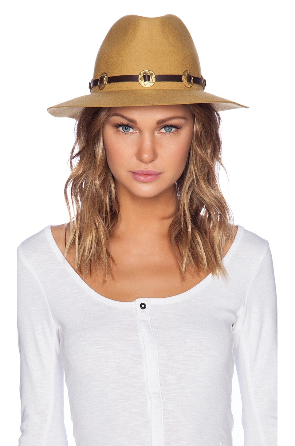 Lovely Bird San Miguel Gold Concho Hat in Cactus