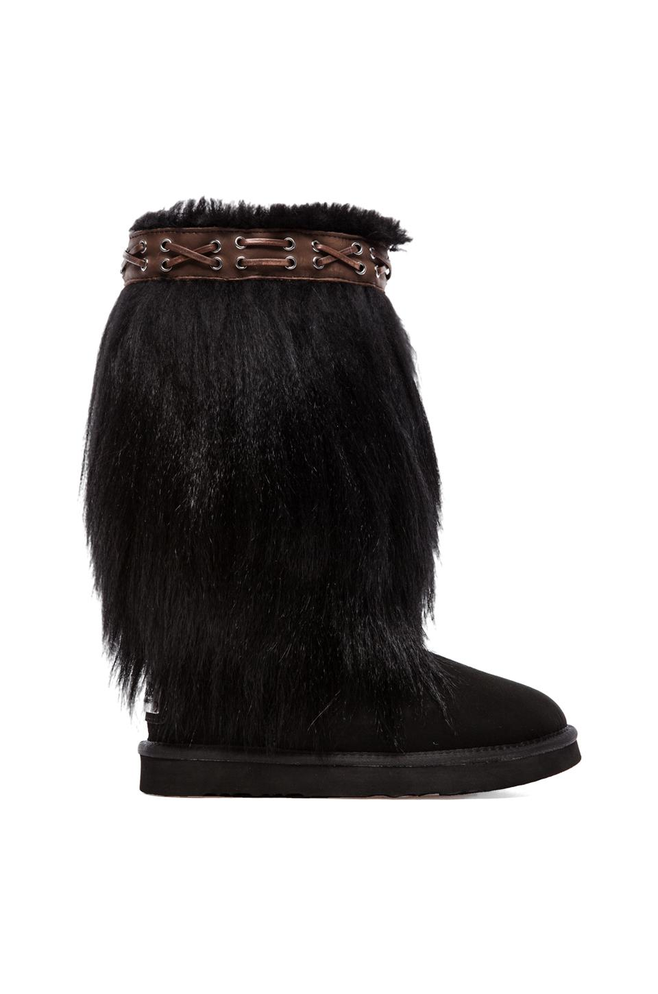 Australia Luxe Collective Nessie with Sheepskin in Black
