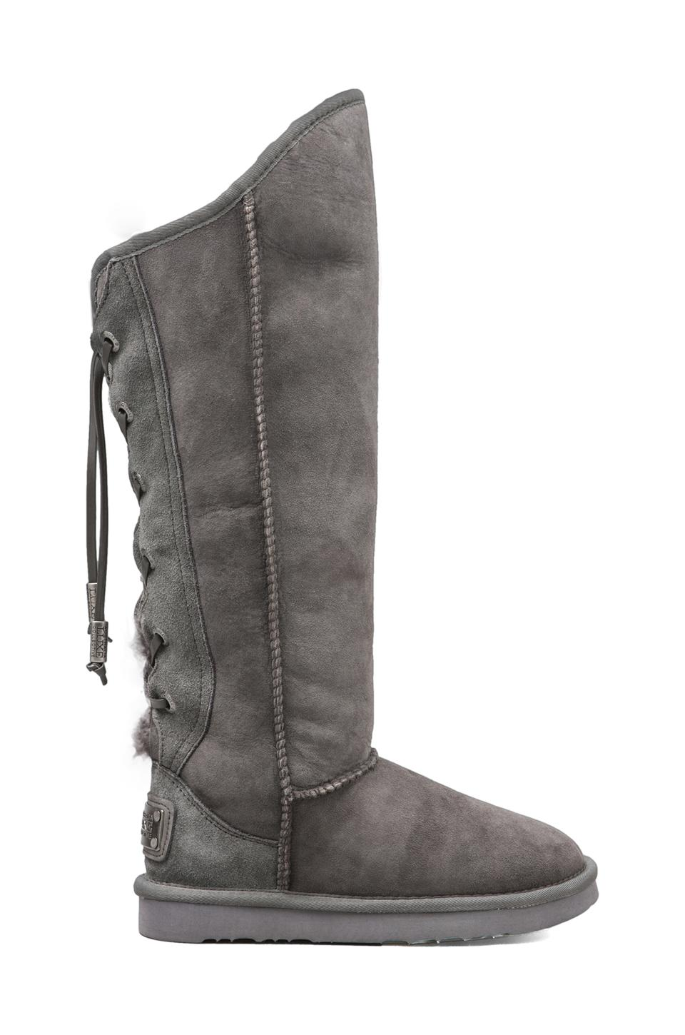 Australia Luxe Collective Dita Extra Tall with Sheep Shearling in Grey