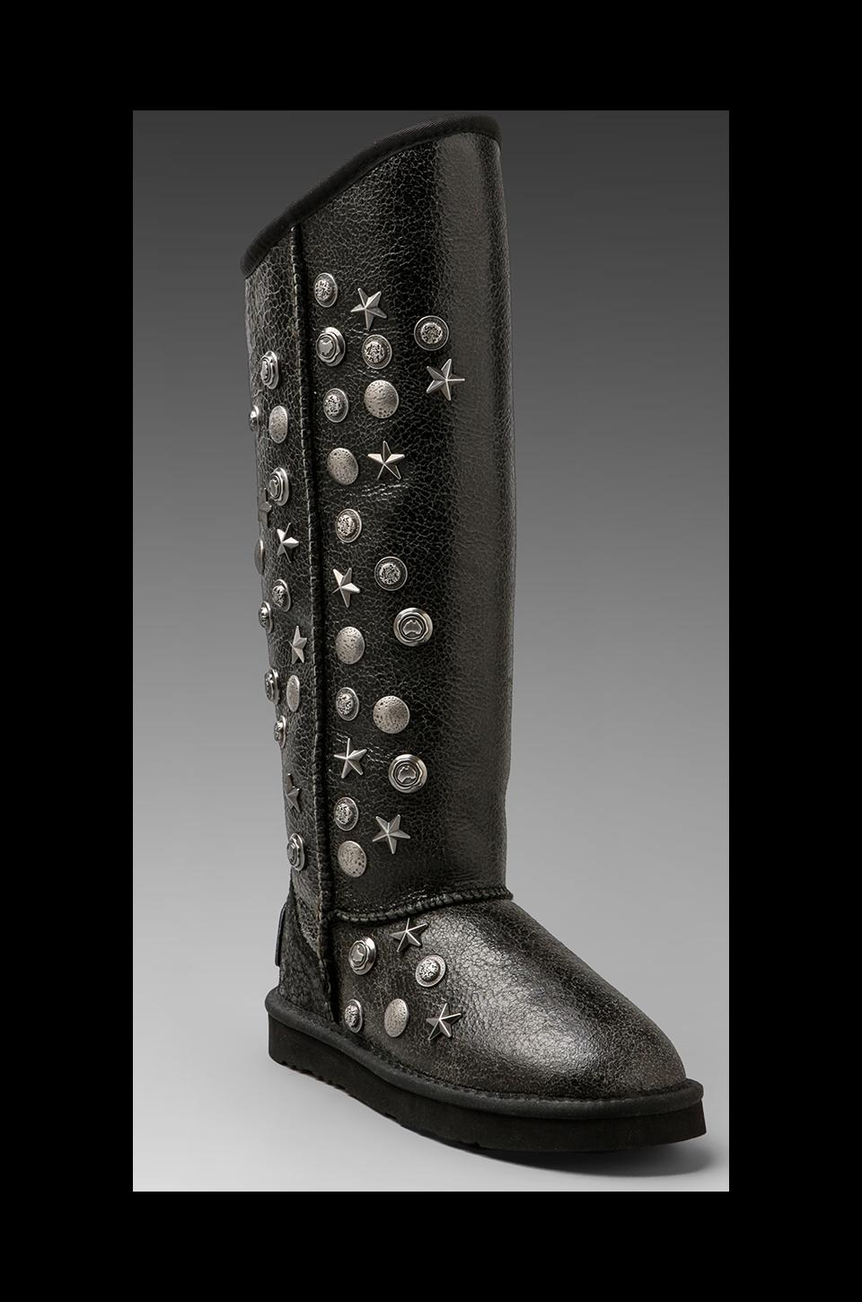 Australia Luxe Collective Angel X-Tall Boot with Sheepskin in Distressed Black
