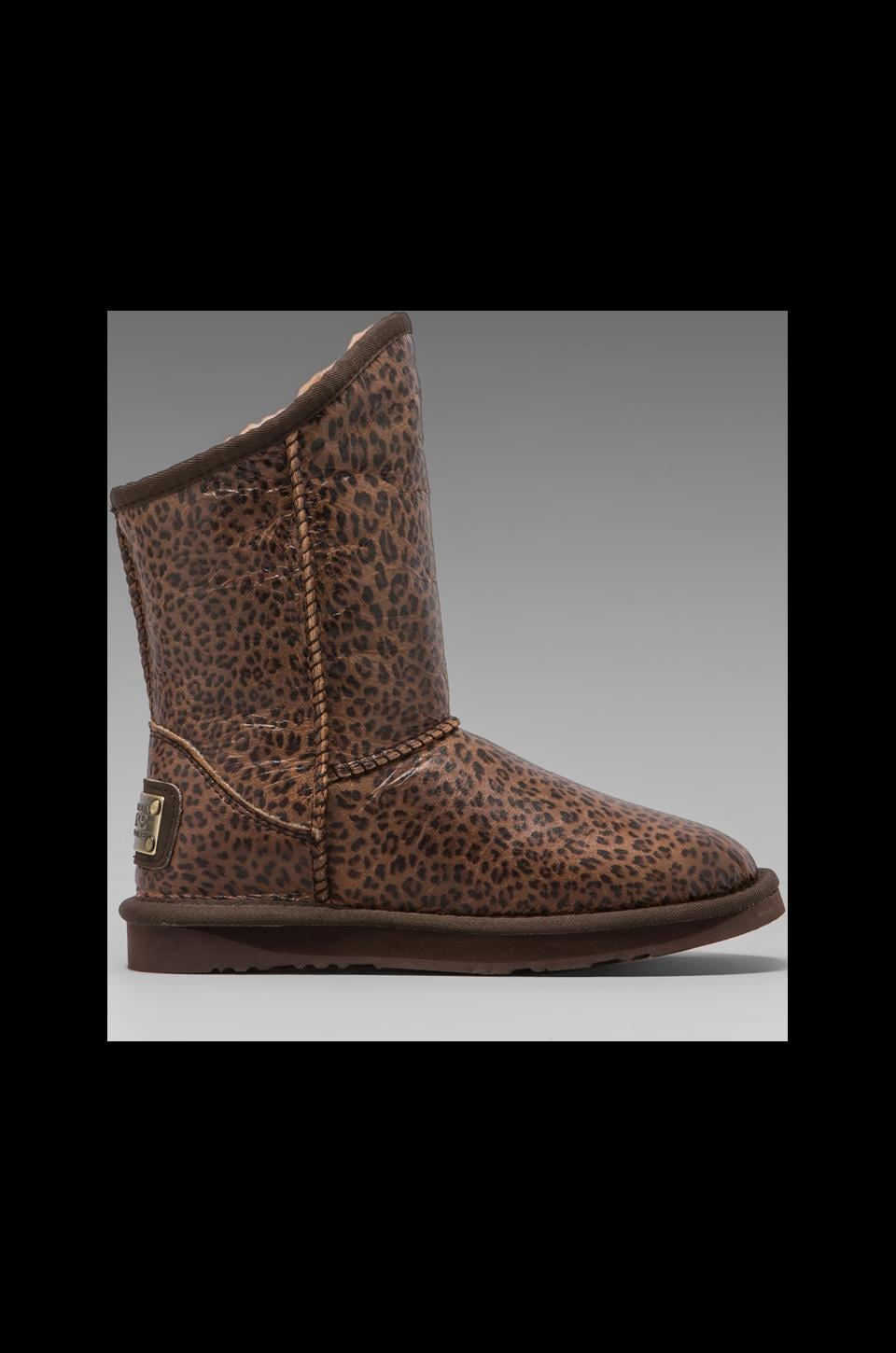 Australia Luxe Collective Cosy Short Boot with Sheepskin in Leopard