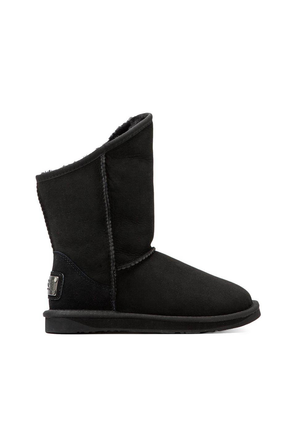 Australia Luxe Collective Cosy Short Boot with Sheep Shearling in Black