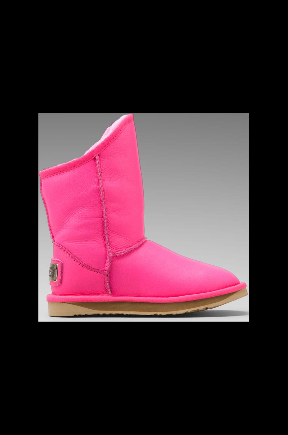 Australia Luxe Collective Cosy Short Boot in Neon Pink