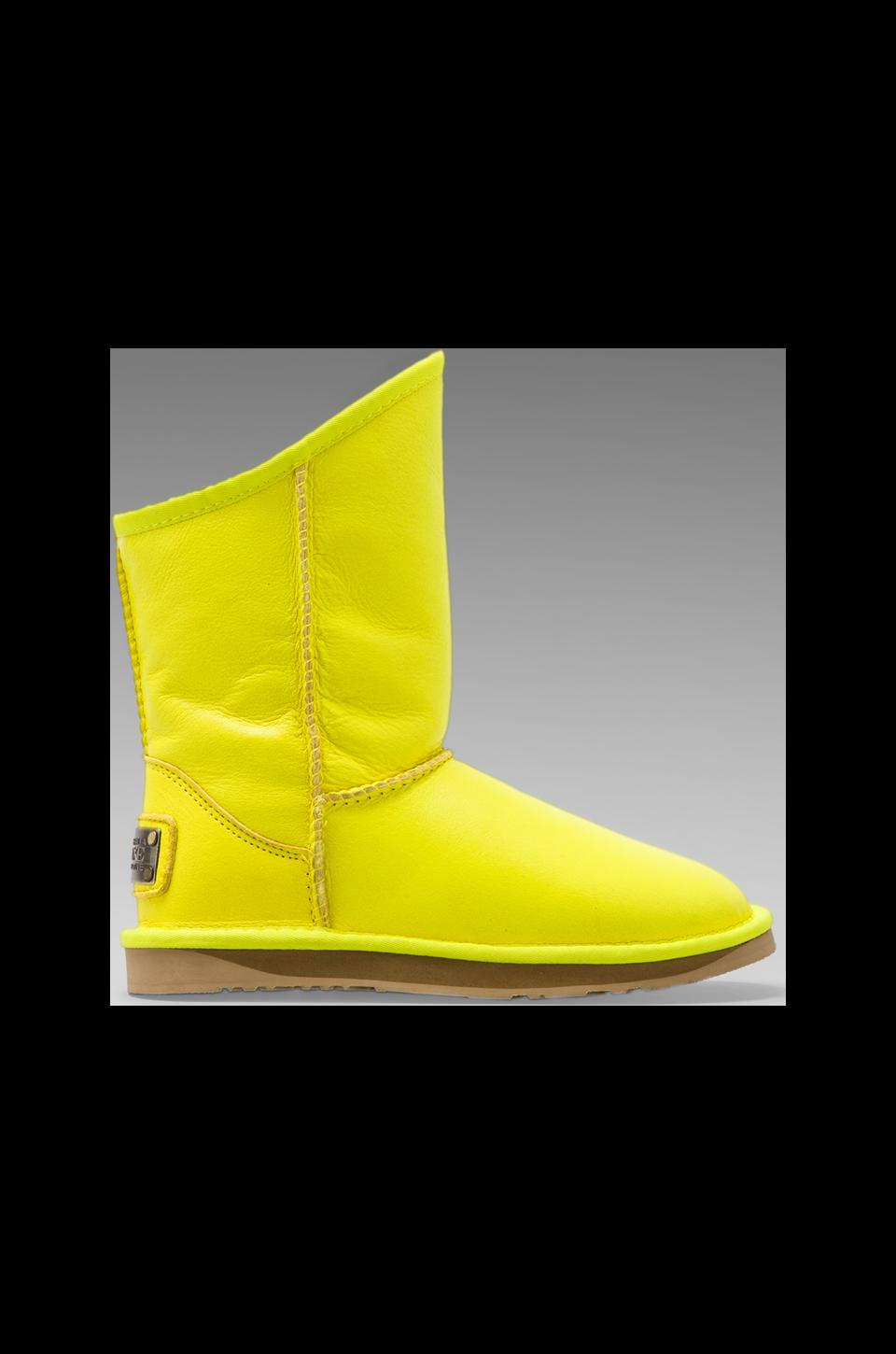 Australia Luxe Collective Cosy Short Boot in Neon Yellow